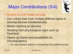 major contributions 3 4