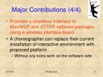 major contributions 4 4