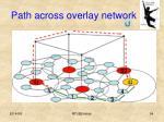 path across overlay network