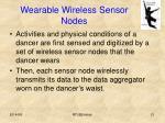 wearable wireless sensor nodes