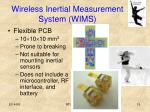 wireless inertial measurement system wims