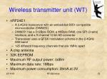 wireless transmitter unit wt1