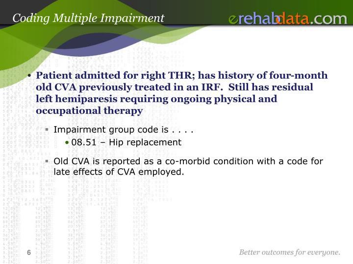 Coding Multiple Impairment