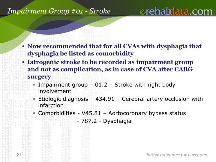 Impairment Group #01 - Stroke