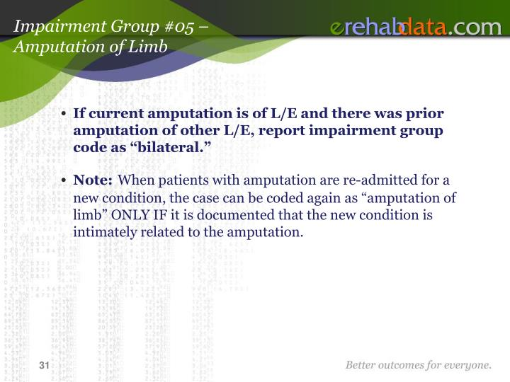 Impairment Group #05 –