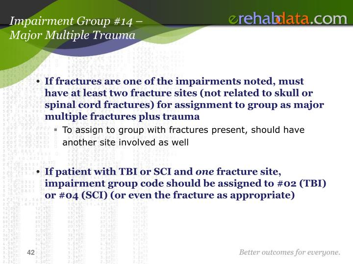 Impairment Group #14 –