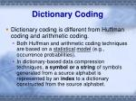dictionary coding