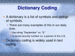 dictionary coding1