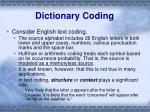 dictionary coding2