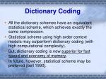 dictionary coding4