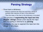 parsing strategy