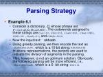 parsing strategy2