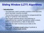 sliding window lz77 algorithms