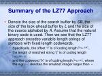 summary of the lz77 approach2