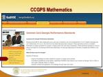 ccgps mathematics