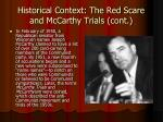 historical context the red scare and mccarthy trials cont3