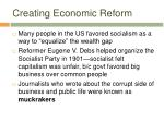 creating economic reform