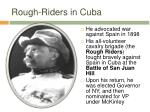 rough riders in cuba