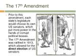 the 17 th amendment