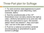 three part plan for suffrage