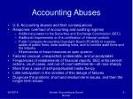 accounting abuses