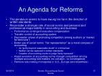 an agenda for reforms