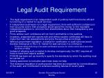 legal audit requirement