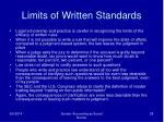 limits of written standards