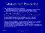 medium term perspective