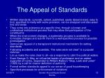 the appeal of standards