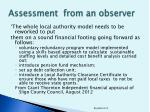 assessment from an observer