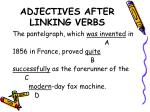 adjectives after linking verbs5