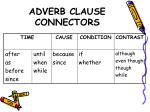 adverb clause connectors