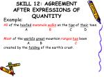 skill 12 agreement after expressions of quantity1