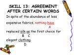 skill 13 agreement after certain words3