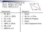ex 3 proof of theorem 6 10 given bc da bc da prove abcd is a4