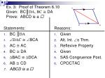 ex 3 proof of theorem 6 10 given bc da bc da prove abcd is a5