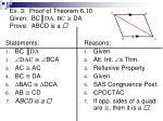 ex 3 proof of theorem 6 10 given bc da bc da prove abcd is a6