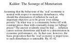 kaldor the scourge of monetarism