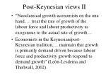 post keynesian views ii