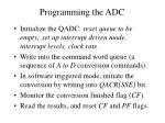 programming the adc