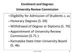 enrolment and degrees university review commission