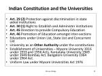 indian constitution and the universities
