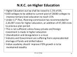 n k c on higher education