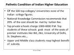 pathetic condition of indian higher education