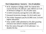 post independence scenario era of subsidies1