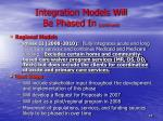 integration models will be phased in continued1