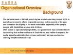 organizational overview background