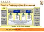 service delivery new framework