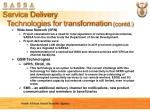 service delivery technologies for transformation contd